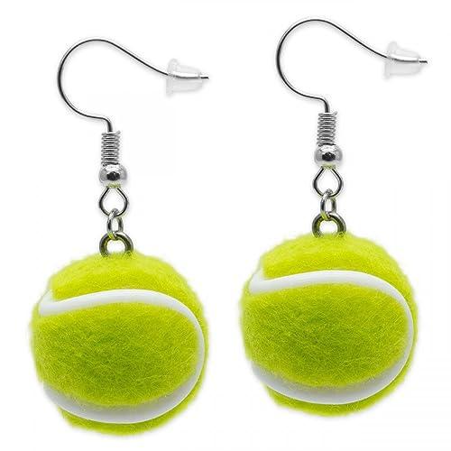 Soulcats® 1 par Pendientes pelota de tenis: Amazon.es: Joyería