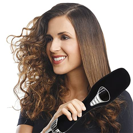 Cepillo Alisador Electrico de Pettine per capelli a ioni negativi, raddrizzatore per capelli a doppio