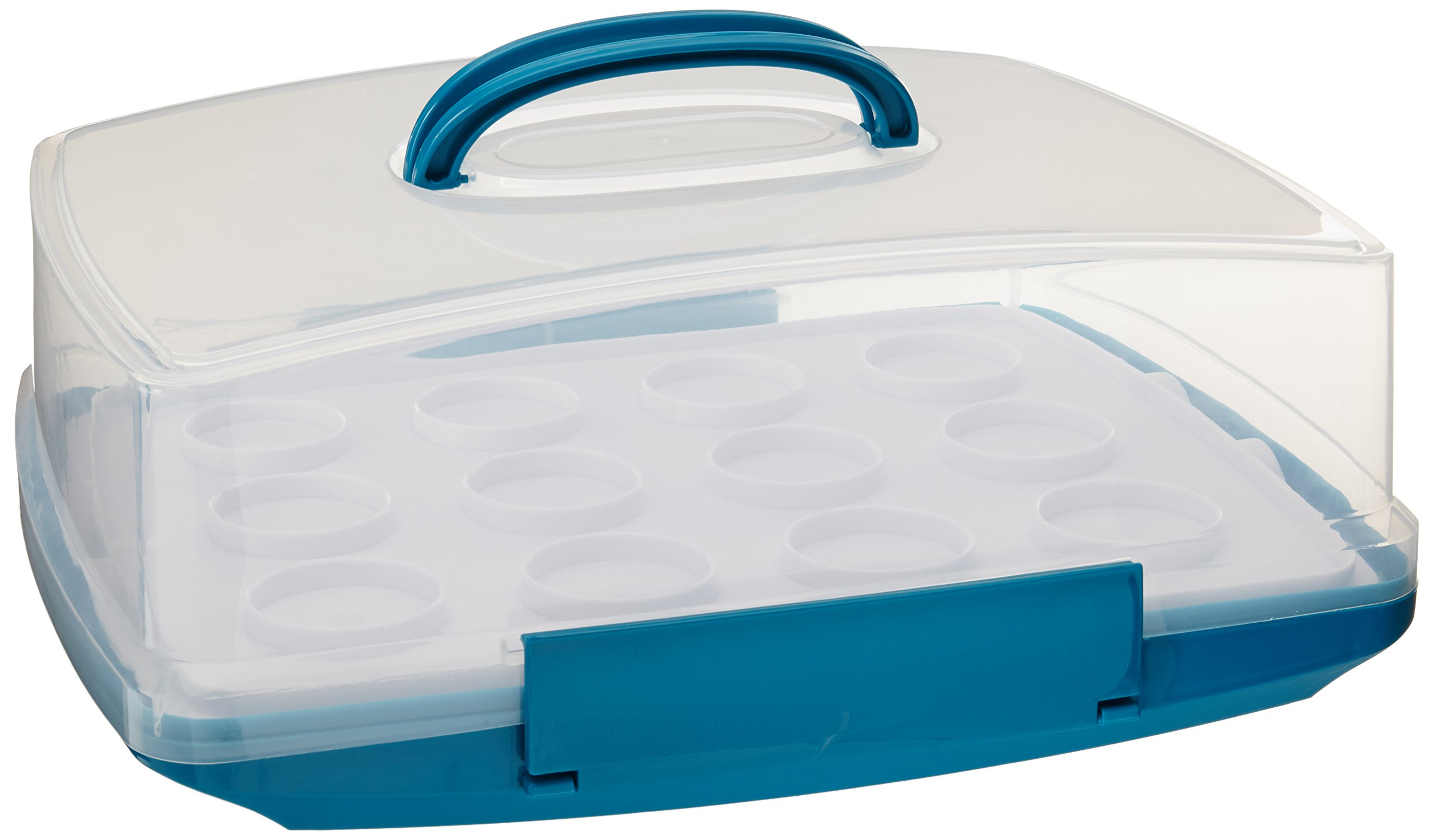 Honey-Can-Do KCH-03839 Rectangular Cake Carrier with Locking Tabs and Handle
