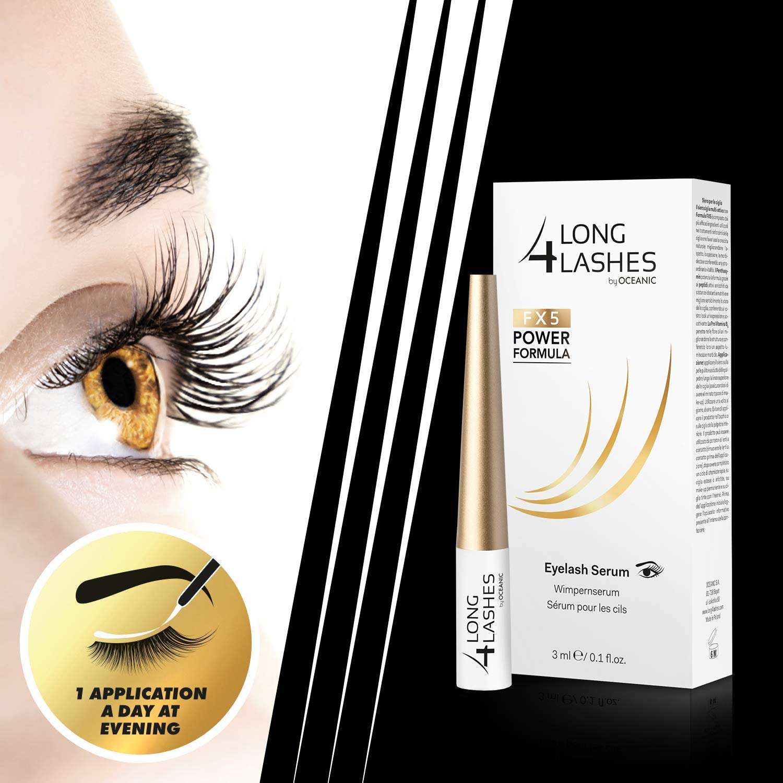4ca95af3d96 LONG 4 LASHES FX5 Power Formula 3 ml Enhancing Eyelash Serum: Beauty