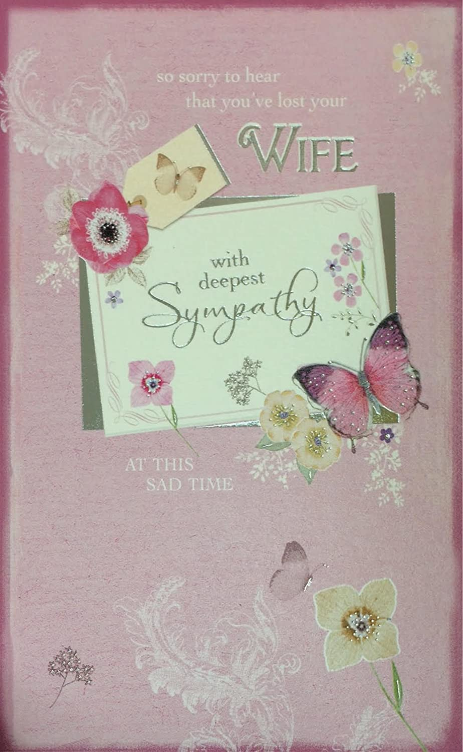 Loss Of Your Wife Sympathy Card So Sorry To Hear That Youve Lost