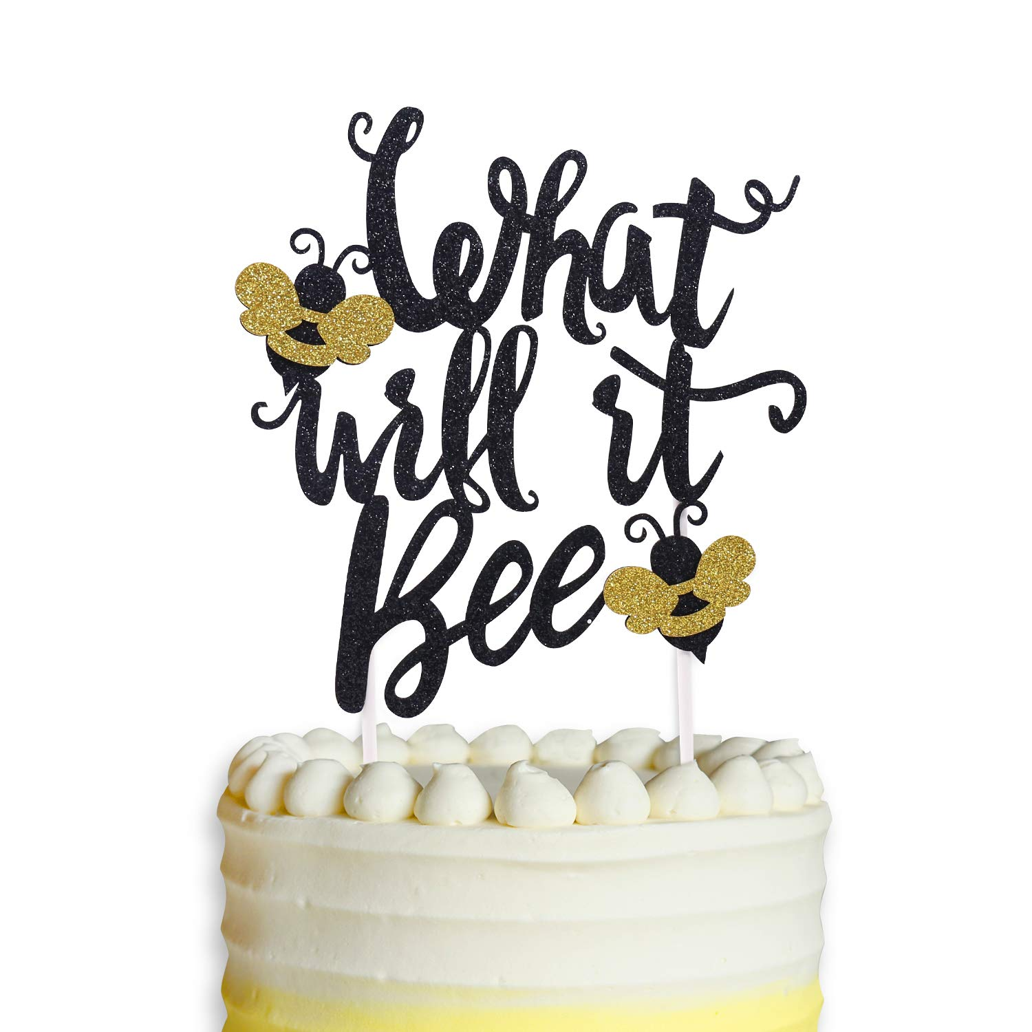 What Will It Bee Cake Topper Bumble Bee Baby Shower Banner Gender