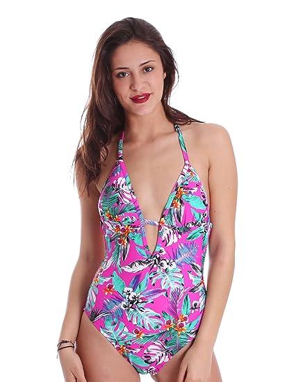 813605bc3780b Superdry G30002IQ Swimsuit Women Pink S: Amazon.co.uk: Clothing