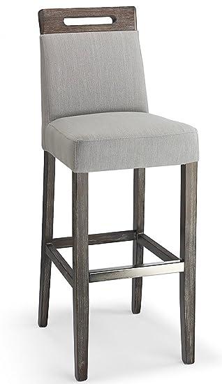 Enjoyable Modena Fabric Bar Stool Grey Dailytribune Chair Design For Home Dailytribuneorg