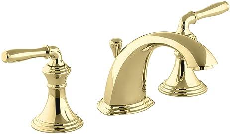 Polished Br Bathroom Faucets | Kohler K 394 4 Pb Devonshire Widespread Lavatory Faucet Vibrant