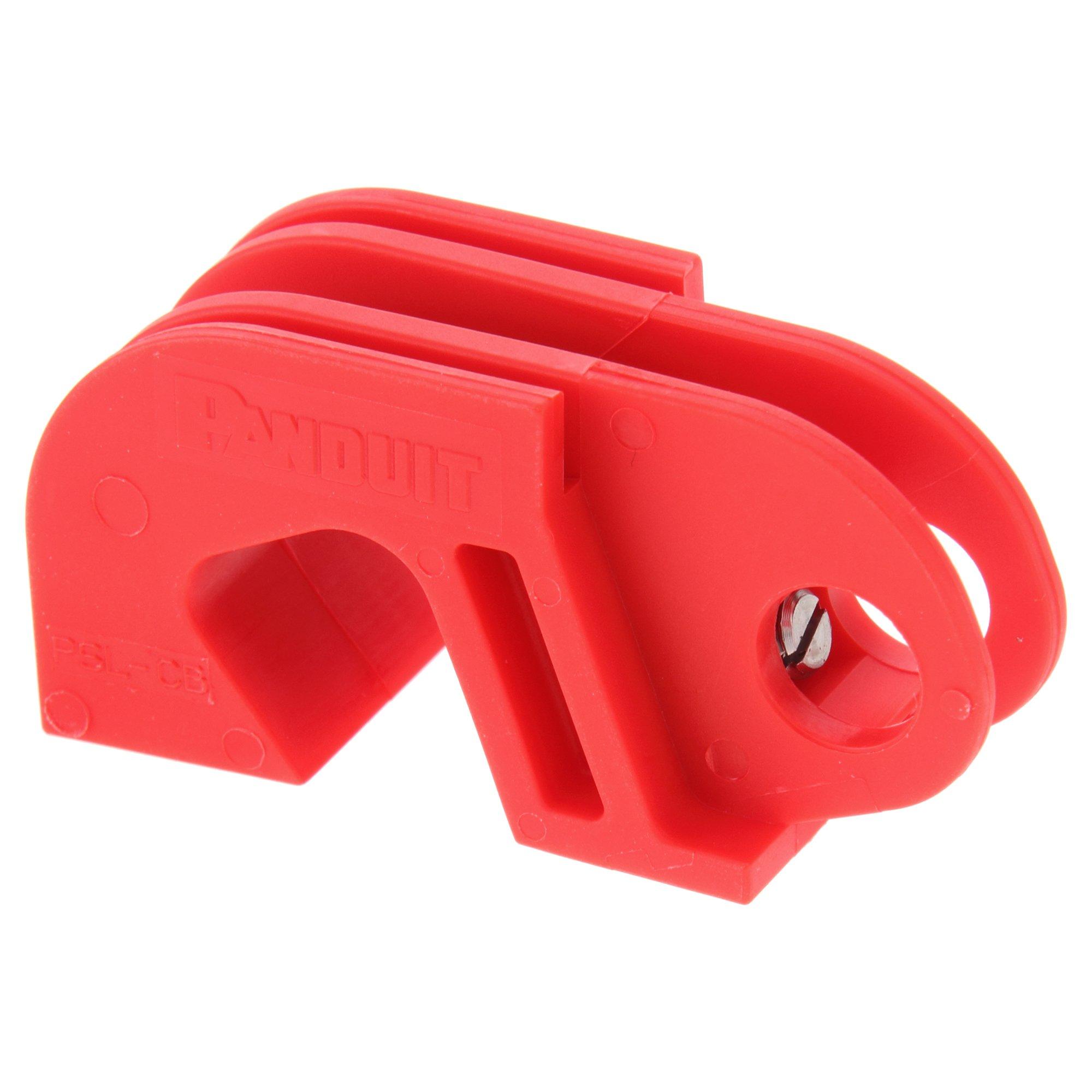 Panduit PSL-CB Universal Circuit Breaker Lockout Device, Red