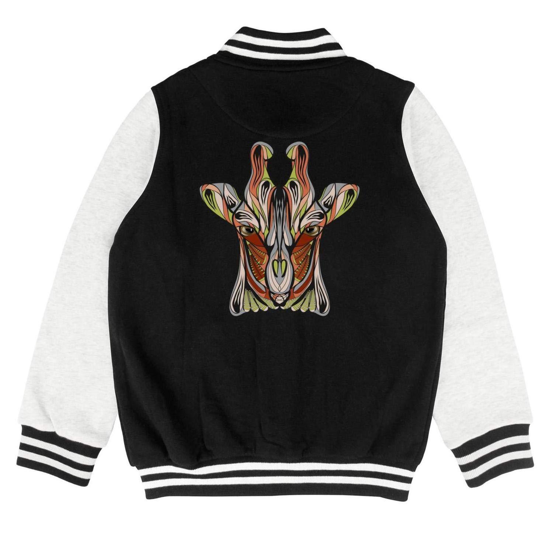 Autumn Kids Boys Bomber Ethnic Giraffe Head Casual Slim Baseball Jacket Hoodie