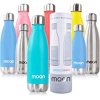 Moon Bottles - Insulated Stainless Steel Water Bottle & Vacuum Flask, 24hr Cold,12hr Hot, Double Walled Metal Reusable…