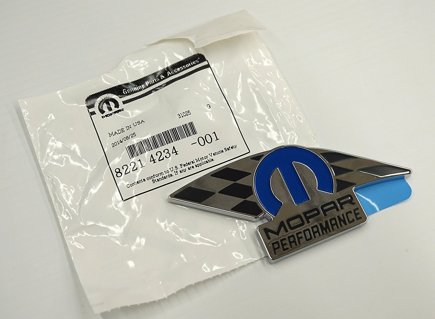 82214234 Mopar Chrome Plated Performance Badge