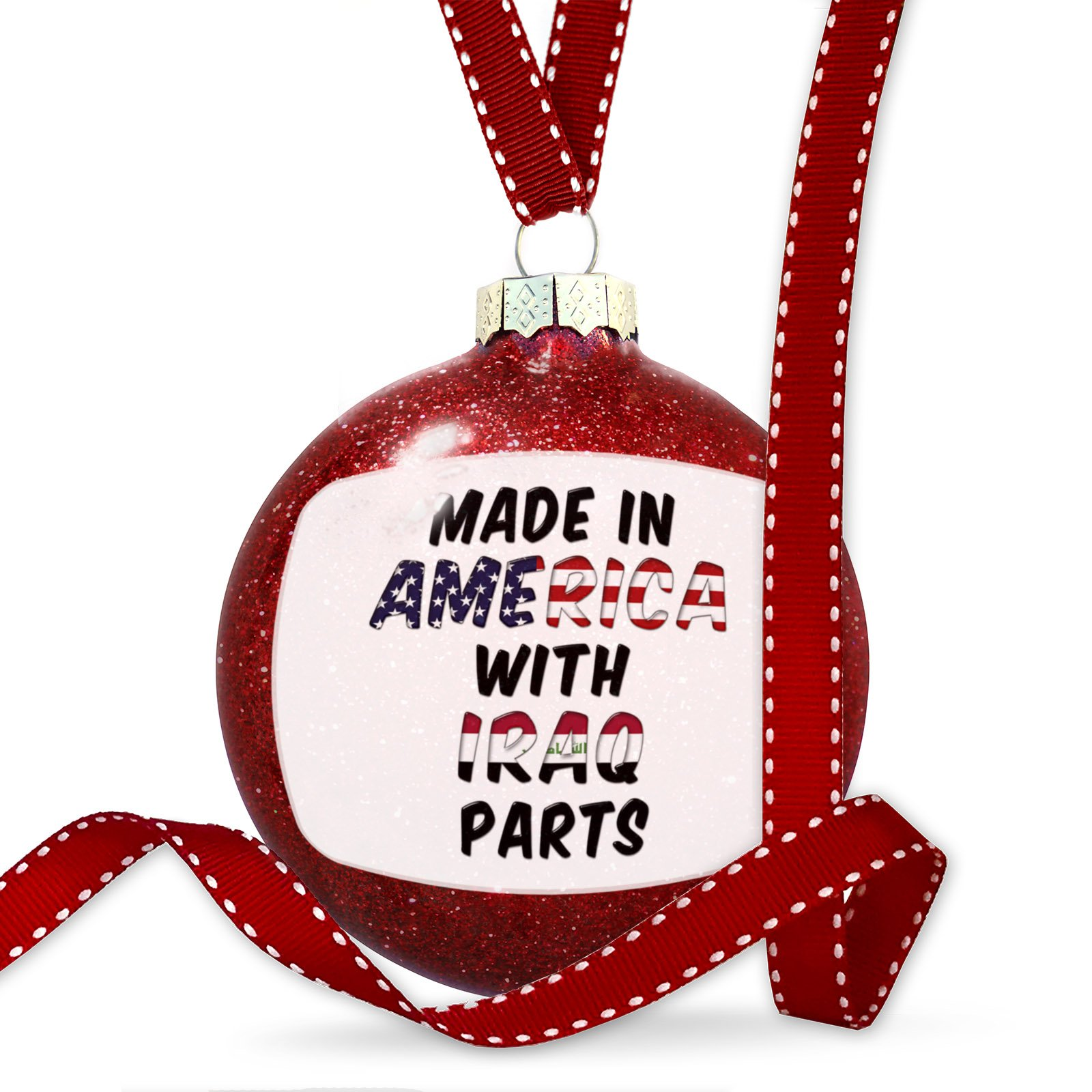 Christmas Decoration Made in America with Parts from Iraq Ornament