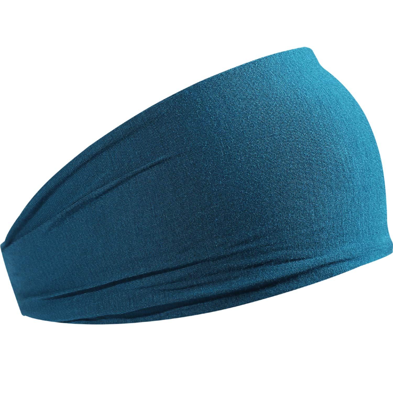 HCHYFZ Headbands Men Women Sweatband Sports Headband Moisture Wicking Workout Running Crossfit Yoga Bike (1PCS-Blue)