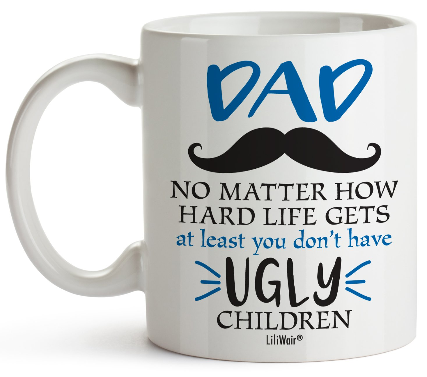 Gifts For Dad From Daughter Son Christmas Birthday Gift Coffee Mug Best Cool Happy Funny First Mugs Father Dads Daddy Stepdad Stepfather Bonus Step