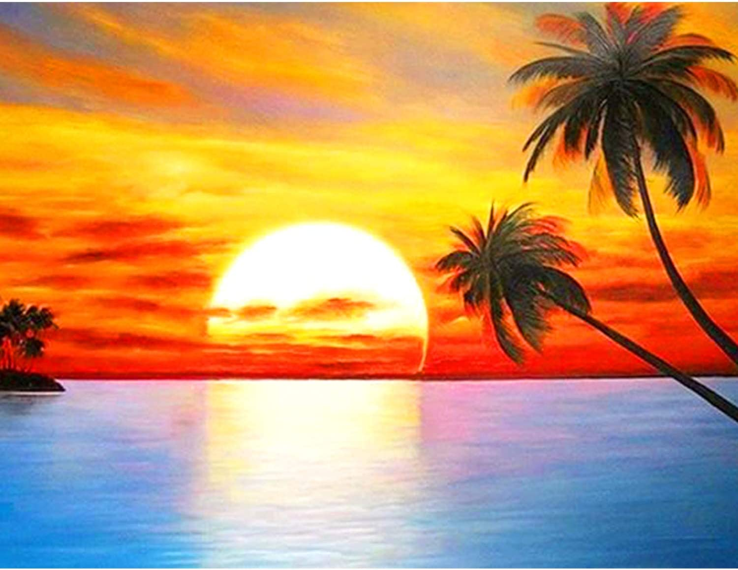 Sunset Time Full Drill 5D Diamond Painting Kits Embroidery Cross Crafts Stitch