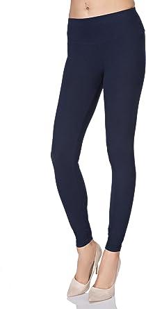 Futuro Fashion® Full Length Leggings Cintura Alta algodón todos colores todas las tallas Active Pantalón Deporte Pantalones lwpy: Amazon.es: Ropa y accesorios