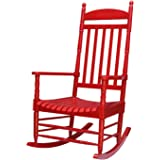 Porch rocker - turned post - solid wood Red