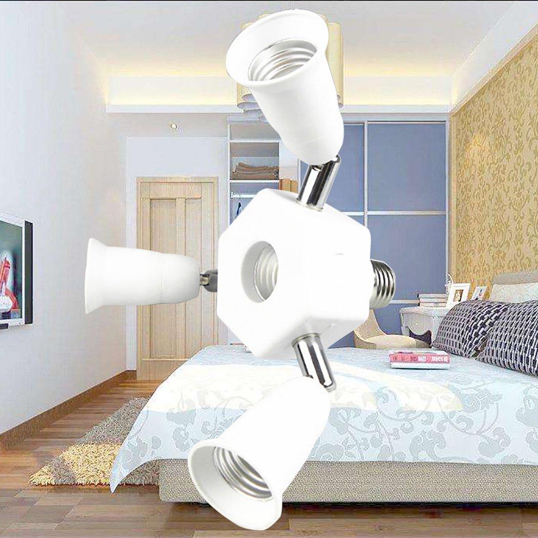 Outgeek Light Socket Splitter 3 in 1 Light Socket Converter 360 Degree Adjustable E27 Bulb Base Adapter by Outgeek (Image #4)