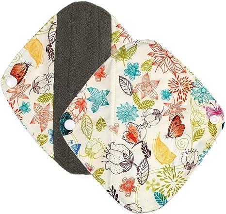 D Rameng Prot/ège-slips Lavables Serviettes Hygi/éniques R/éutilisables Pads Menstruel Chiffon