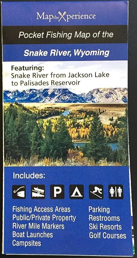 Amazon Com Snake River 15x11 Paper Fishing Map Digital Gps
