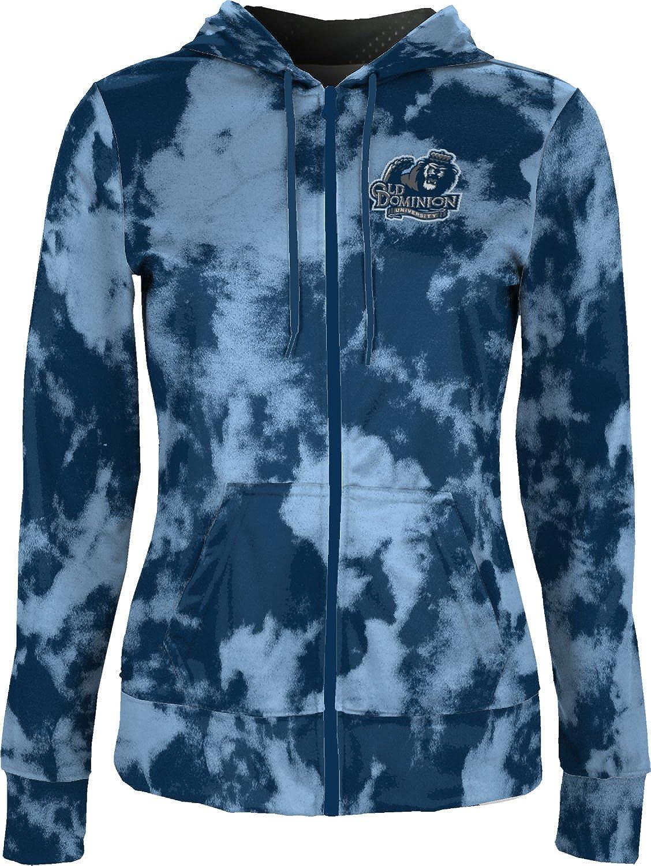 School Spirit Sweatshirt Grunge Old Dominion University Girls Zipper Hoodie