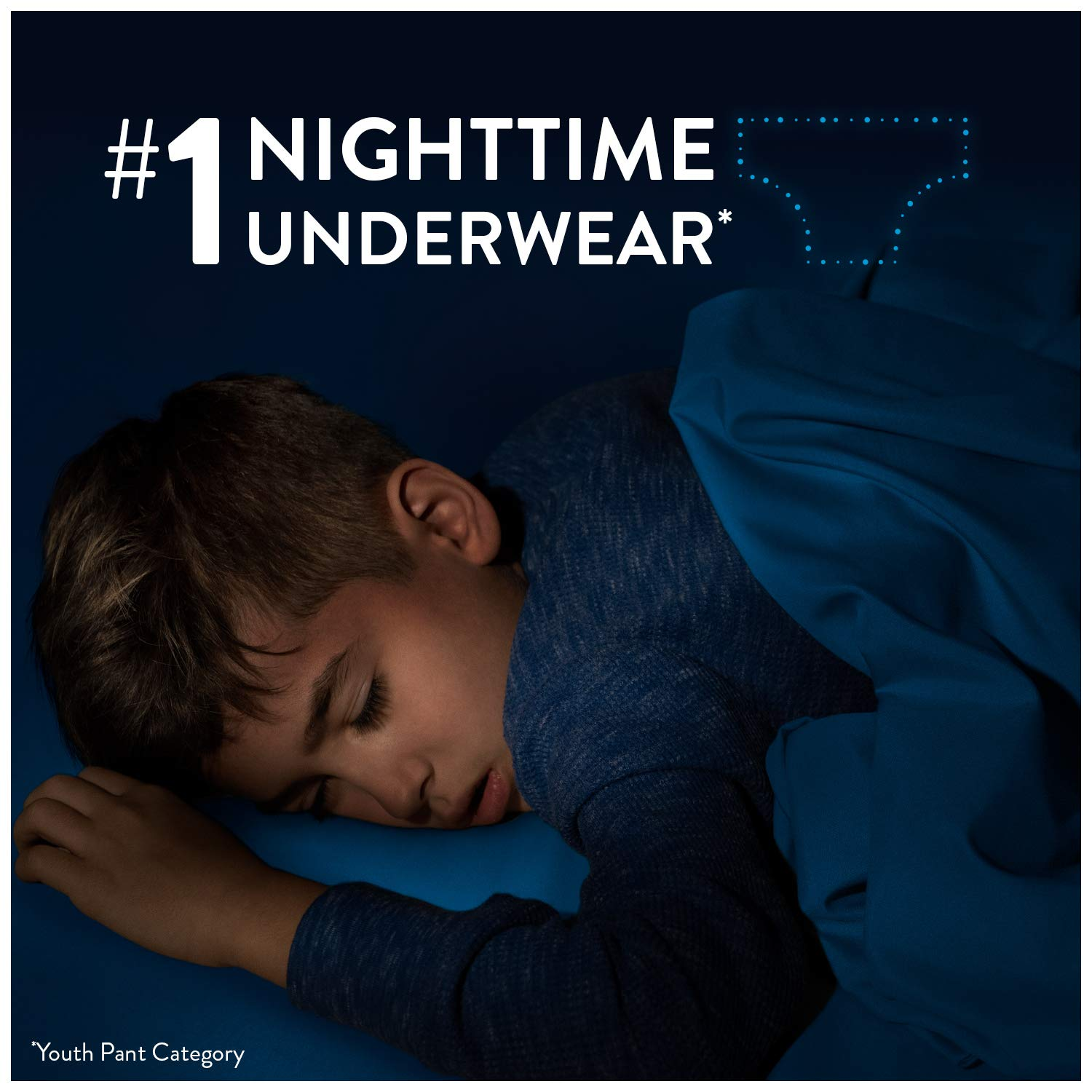 Goodnites Bedwetting Underwear for Boys Giga Pack 28-45 lb. XS Packaging May Vary 44 Ct