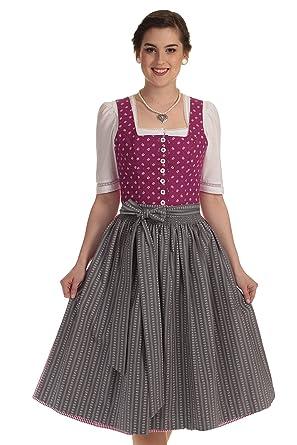 1cc333e81a008c Hammerschmid Damen Dirndl Midi Thiersee Dirndl kurz Hammerschmid Dirndl in  pink-grau