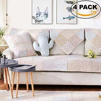 Incroyable 4 PACK Sofa Cover Set   35u0026quot;W X 70u0026quot;L 3 Seater Seat
