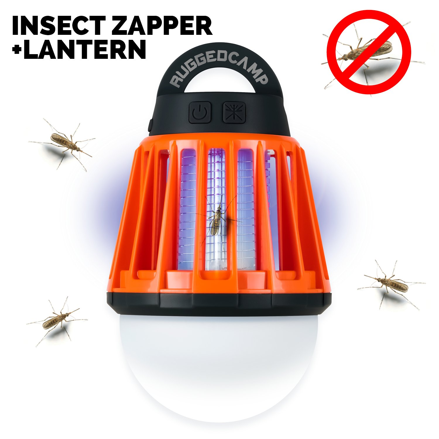 Rechargeable LED Camping Lantern and Bug Zapper and Flash Light.