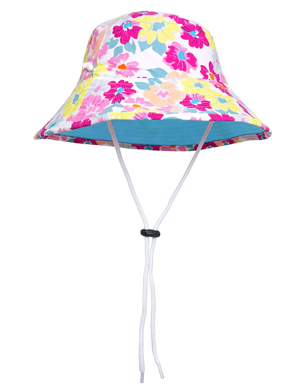 SunBusters Girls Reversible Bucket Hat UPF 50 Sun Protection Sun Hat
