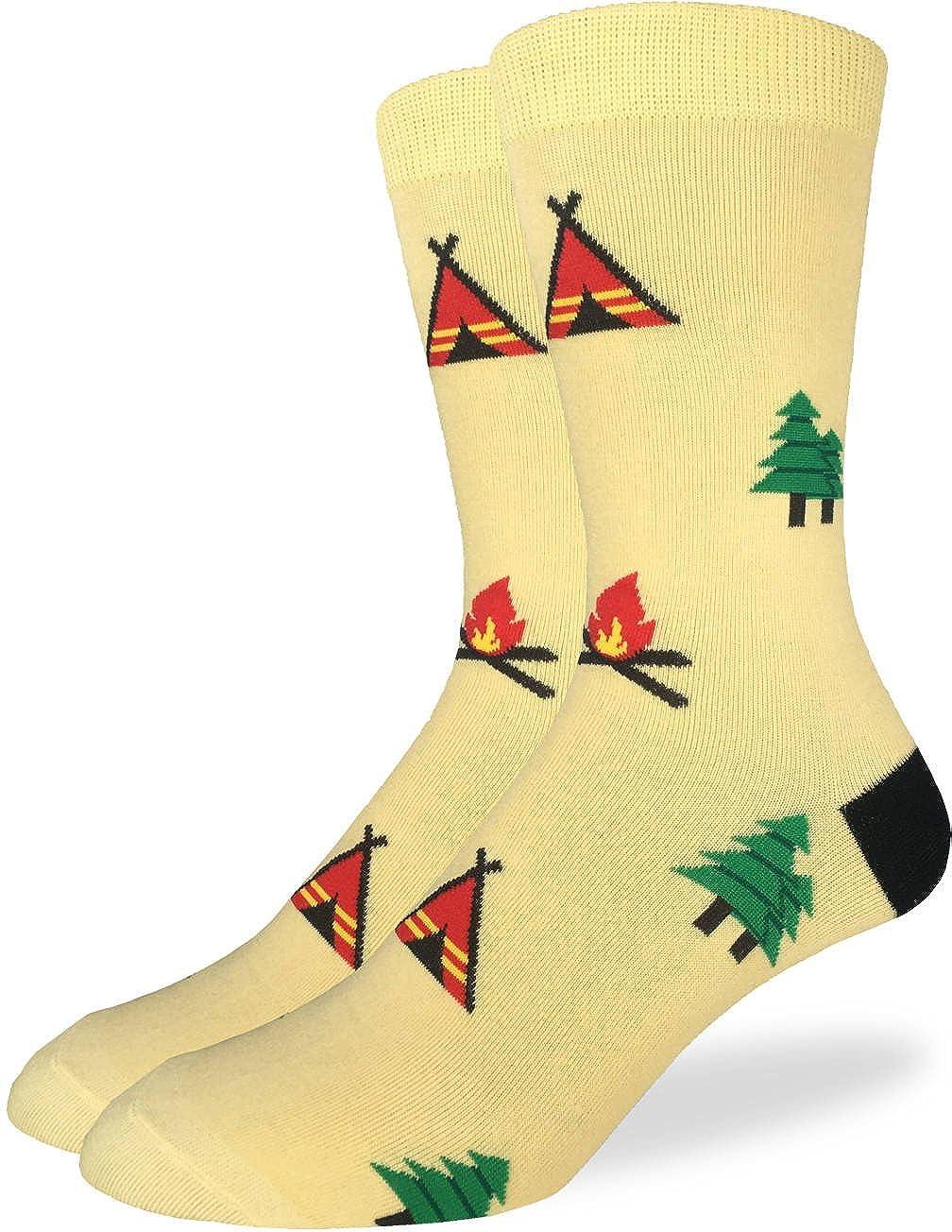 ff414c78417867 Amazon.com  Good Luck Sock Men s Camping Crew Socks - Yellow