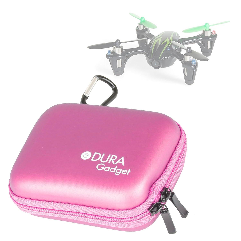 DURAGADGET Funda Rígida Rosa para El Drone Hubsan X4 (H107C ...