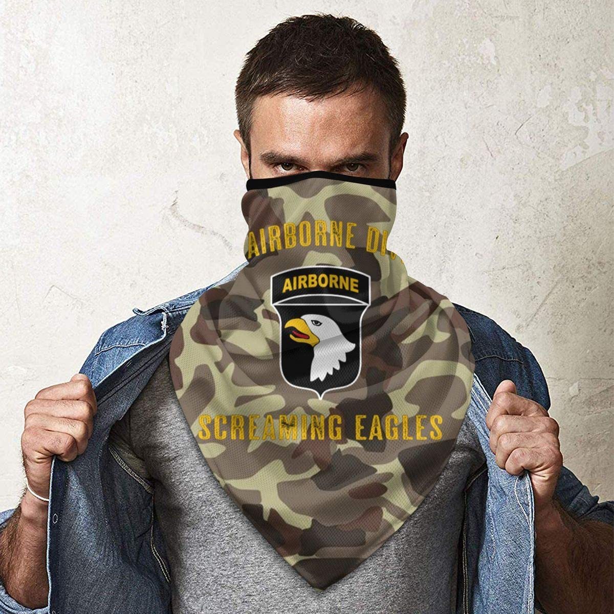 101st Airborne Division Outdoor Face Mouth Mask Windproof Sports Mask Ski Mask Shield Scarf Bandana Men Woman