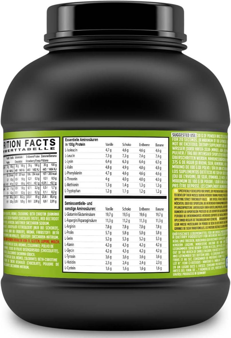 SLIMMY - Dieta baja en carbohidratos - 100 % de aislado de proteína de soja, 6000g plátano