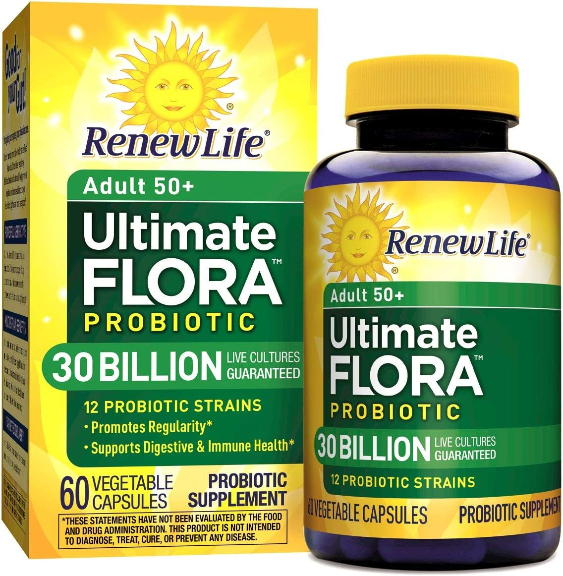 Renew Life Ultimate Flora Senior Formula Capsules, 60 Count
