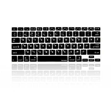 the best attitude 01672 2c367 TOP CASE - Russian/English Letter Keyboard Cover Skin Compatible with  MacBook 13