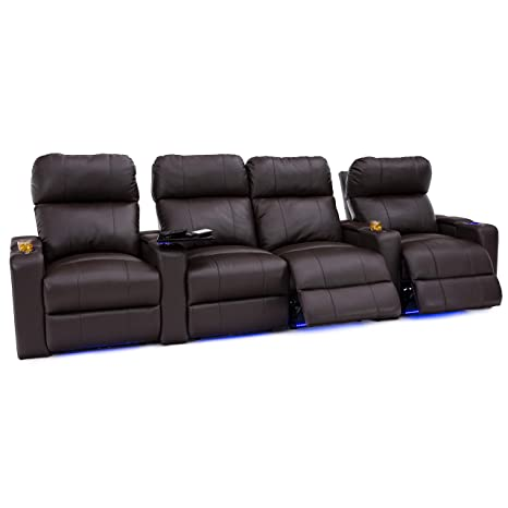 Outstanding Seatcraft Julius Big Tall 400 Lbs Capacity Home Theater Seating Leather Power Recline And Powered Headrest Usb Charging Port And Lighted Cup Beatyapartments Chair Design Images Beatyapartmentscom