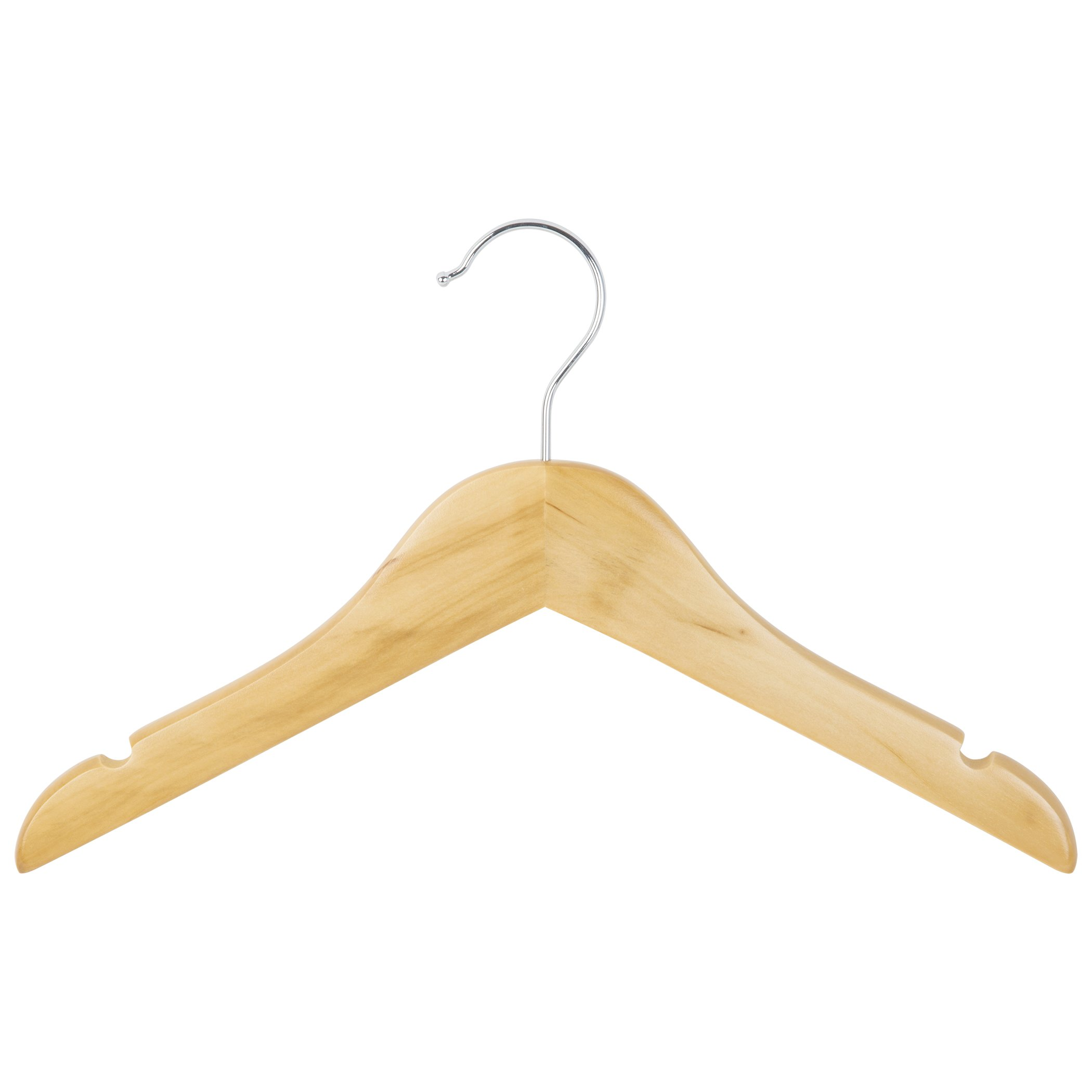 Richards Homewares Imperial/Juvenile Shirt/Coat Hanger Set/6 Wood Children's, set of 6