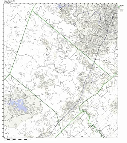 Amazon.com: Hays County, Texas TX ZIP Code Map Not Laminated ...