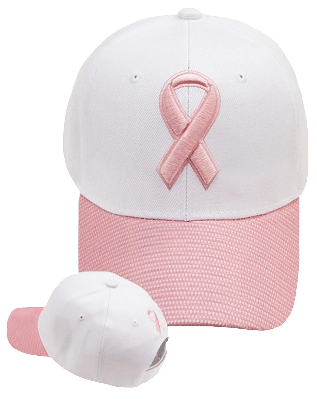 ピンクリボン乳がん意識キャップ刺繍レディース帽子   B016H0D166