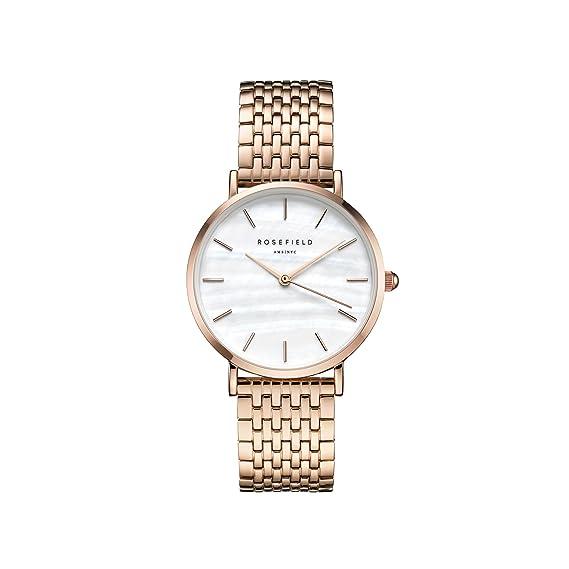 Rosefield Reloj Analógico para Mujer de Cuarzo con Correa en Acero Inoxidable UEWR-U20: Amazon.es: Relojes