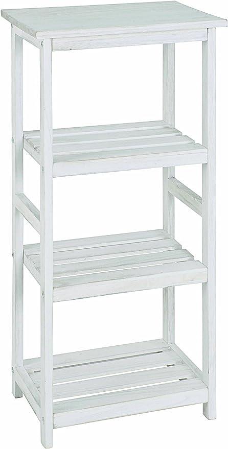 Haku Möbel 26316 mesa auxiliar 32 x 32 x 59 cm blanca, limpiada ...