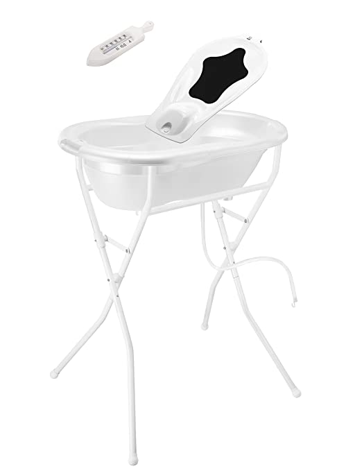 White Rotho Babydesign Bath Stand Foldable and Adjustable High