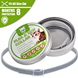 COSYWORLD CFlea and Tick Collar - Adjustable & Waterproof Flea and Tick Control Collar for Cat with Natural Essential Oil