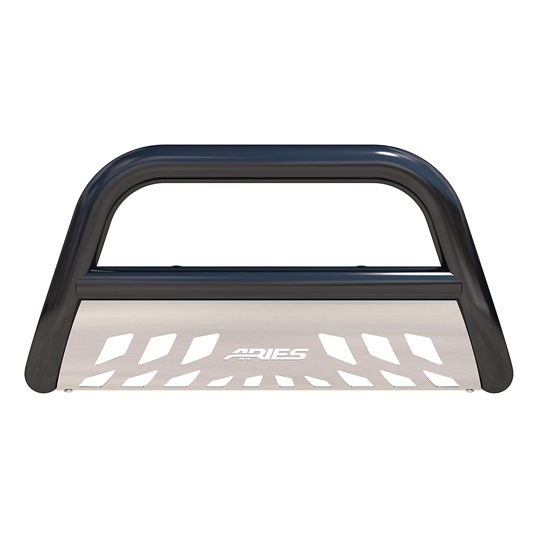 ARIES B35-2010 3-Inch Black Steel Bull Bar Select Toyota Tacoma