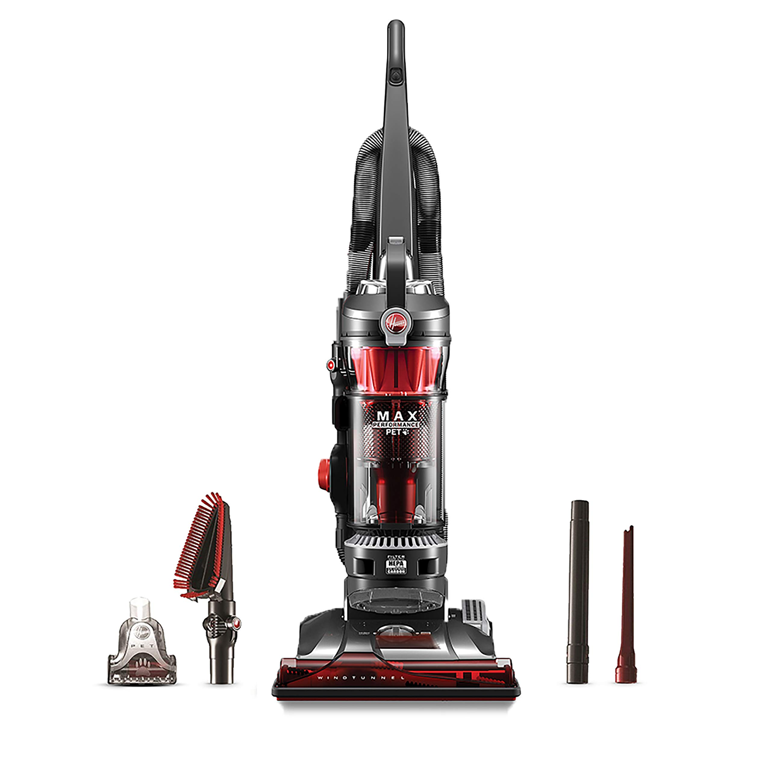 Hoover WindTunnel 3 Max Performance Upright Vacuum Cleaner, HEPA Filter and Powerful Suction for Pet Hair, UH72625, Red by Hoover