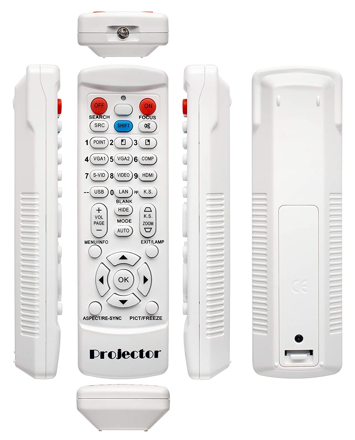 Replacement Remote for OPTOMA W316ST EH415ST EH416 W402 W320UST W320USTI GT5000 Projector White