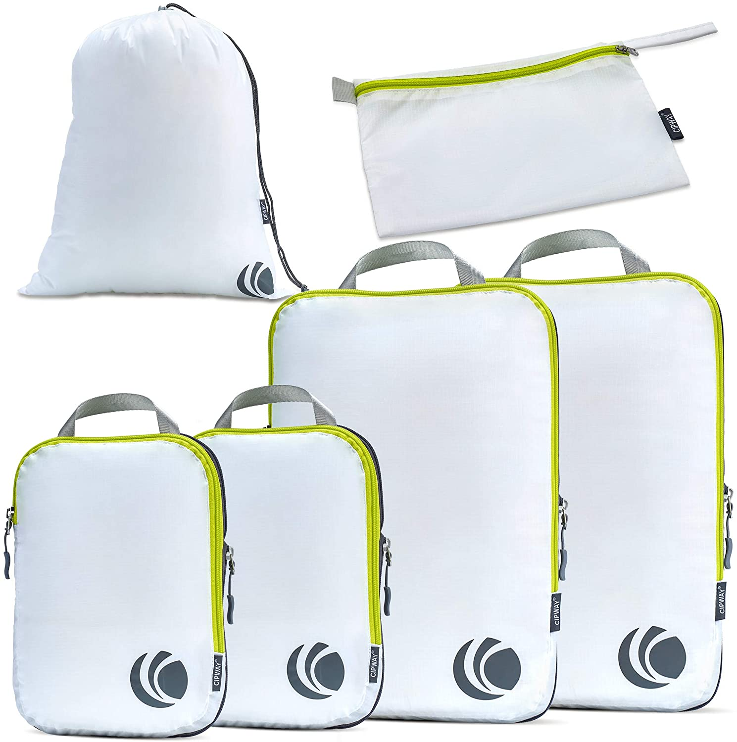 Cipway Compression Packing Cubes for Travel-Expandable Packing Organizers for Carry on Luggage//Backpack Green 3pcs