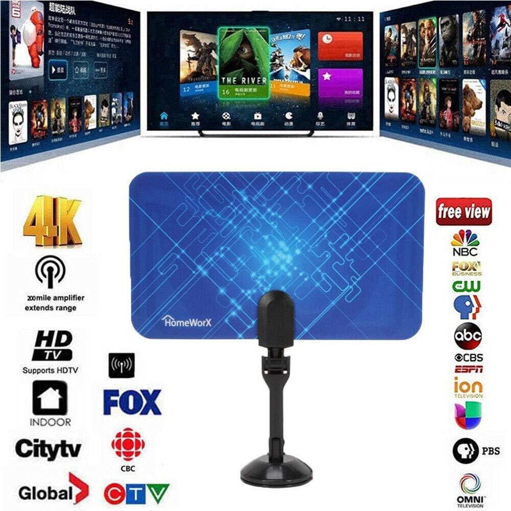 BangHaa Amplified HD antena de TV digital de hasta 95 Millas de ...