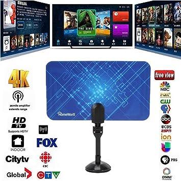 BangHaa Amplified HD antena de TV digital de hasta 95 Millas de Alcance: Amazon.es: Electrónica