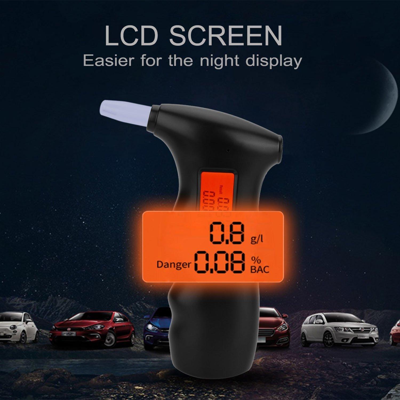 bedee Alcootest, Éthylotest Électronique avec Écran LCD + 5 Embouts
