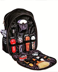Haircut Tools Bag Barber Bags for Clippers and Supplies for Men Professional Makeup Artist Waterproof Storage Bag Hair Stylist Hairdresser Designer Backpack (Black)